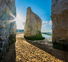 The lonely chalk stack of Botany Bay in Kent by Luke Farmer