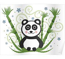 Cute Baby Panda Vector Illustration Poster