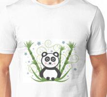 Cute Baby Panda Vector Illustration Unisex T-Shirt