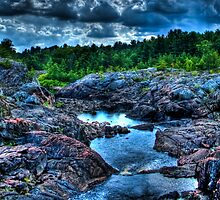 HDR River Between Rocks by jvrichardson