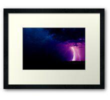Lightning - Severe Thunderstorm Framed Print