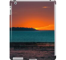 Warm sunset over Whitstable in Kent iPad Case/Skin