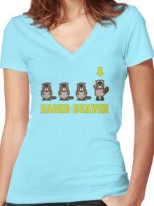 Eager Beaver! Women's Fitted V-Neck T-Shirt
