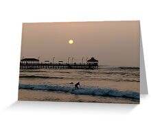 Local Surfer, Huanchaco, Peru Greeting Card