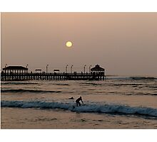 Local Surfer, Huanchaco, Peru Photographic Print