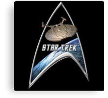StarTrek Command Silver Signia Enterprise NX01 Canvas Print