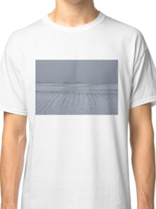 Winter Farm Fields - Rolling Hills on a Bleak Snowy Day Classic T-Shirt