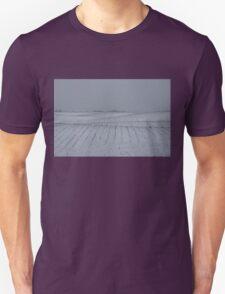 Winter Farm Fields - Rolling Hills on a Bleak Snowy Day Unisex T-Shirt
