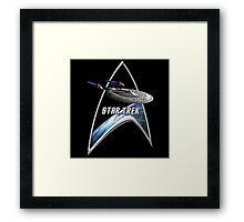 StarTrek Command Silver Signia Enterprise Sovereign E Framed Print