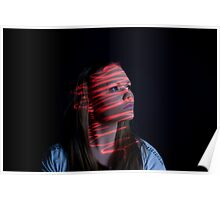 Laser 1 - Light Graffiti Poster