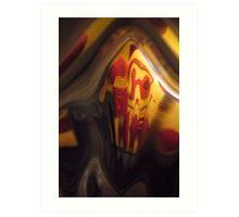 Fun House, Orange, red, black grey Warm Mono chromatic Raw Image Art Print