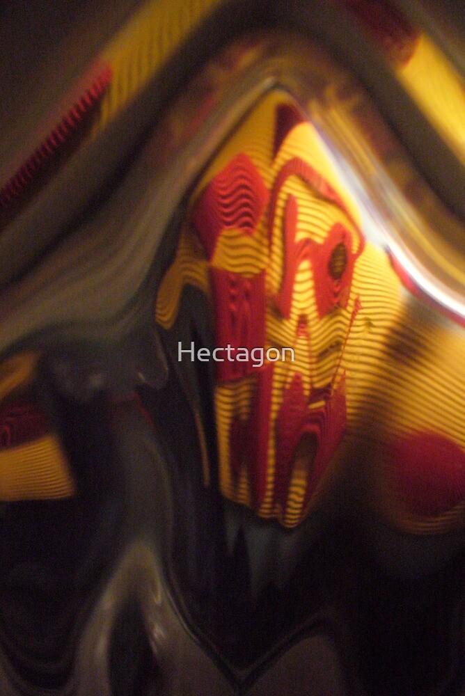 Fun House, Orange, red, black grey Warm Mono chromatic Raw Image by Hectagon