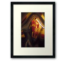 Fun House, Orange, red, black grey Warm Mono chromatic Raw Image Framed Print