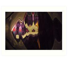 Suited Man, bourgeois, classy, black, purple, cool, Mono chromatic Raw Image Art Print