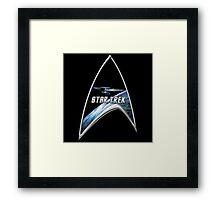 StarTrek Command Silver Signia Enterprise Framed Print