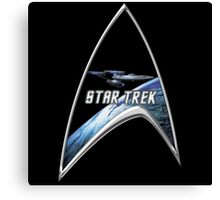 StarTrek Command Silver Signia Enterprise Canvas Print
