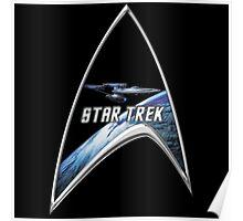 StarTrek Command Silver Signia Enterprise Poster