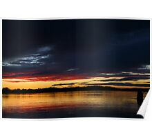winter sun. anderson inlet Poster