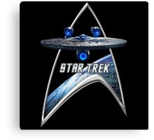 StarTrek Command Silver Signia Enterprise JJA01 Canvas Print