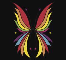 Rainbow Wings Black Kids Tee