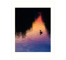 Bates Sunset Duck - 85731 Art Print