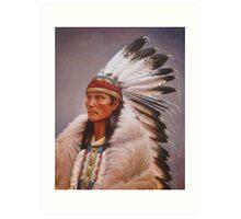Chief Standing Wolf Art Print