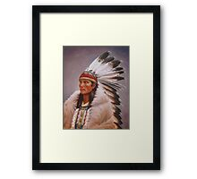 Chief Standing Wolf Framed Print