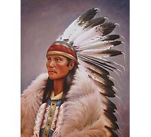 Chief Standing Wolf Photographic Print