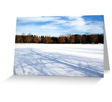 Cold And Crisp Greeting Card