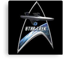 StarTrek Command Silver Signia Enterprise 2009 Canvas Print