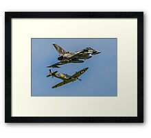 Typhoon & Spitfire Synchro 2015 Framed Print