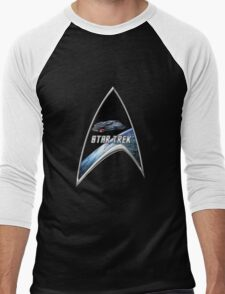 StarTrek Command Silver Signia defiant Men's Baseball ¾ T-Shirt