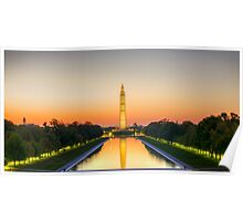 Photo Washington Monument Sunrise Poster