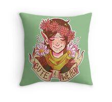 Cute and Weird Throw Pillow
