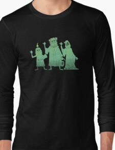 Hitch-hiking Christmas Ghosts Long Sleeve T-Shirt