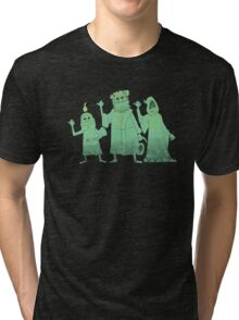 Hitch-hiking Christmas Ghosts Tri-blend T-Shirt