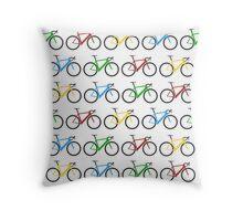 Road Bike Pattern Throw Pillow