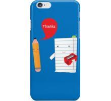 Pencil + paper iPhone Case/Skin
