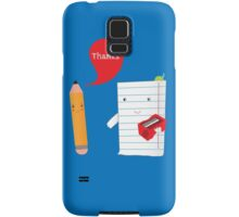 Pencil + paper Samsung Galaxy Case/Skin