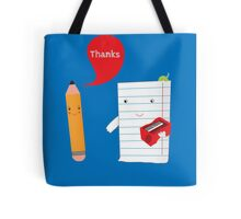 Pencil + paper Tote Bag