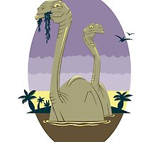 Primeval World - Brontosaurus by RoguePlanets
