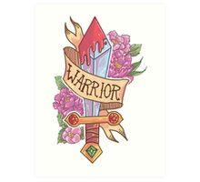 WARRIOR CLASS Art Print