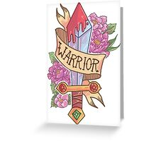 WARRIOR CLASS Greeting Card