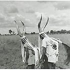 Konkomba dancers in about 1950 by Baba John Goodwin