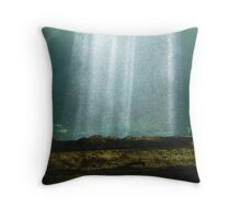 Magnificent Bubble Curtain Throw Pillow