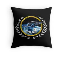 Star trek Federation of Planets Voyager Throw Pillow
