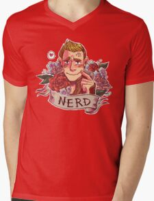 NERD NIGHT Mens V-Neck T-Shirt