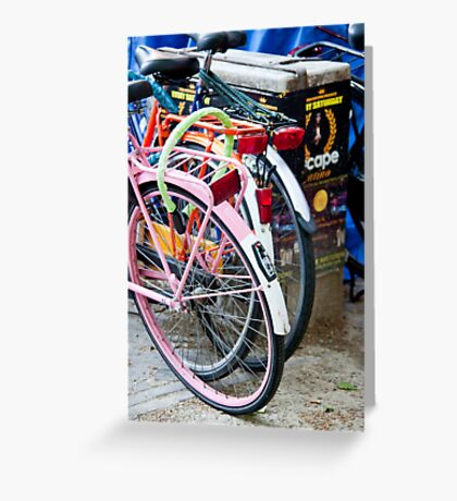 Amsterdam Bikes Greeting Card