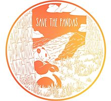 Save the Pandas! Photographic Print