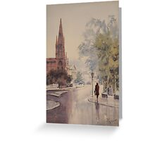 Easing Showers Greeting Card